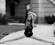 Dancer from the Dance Factory dance studio in Topeka, Kansas splits - PROGRAMS
